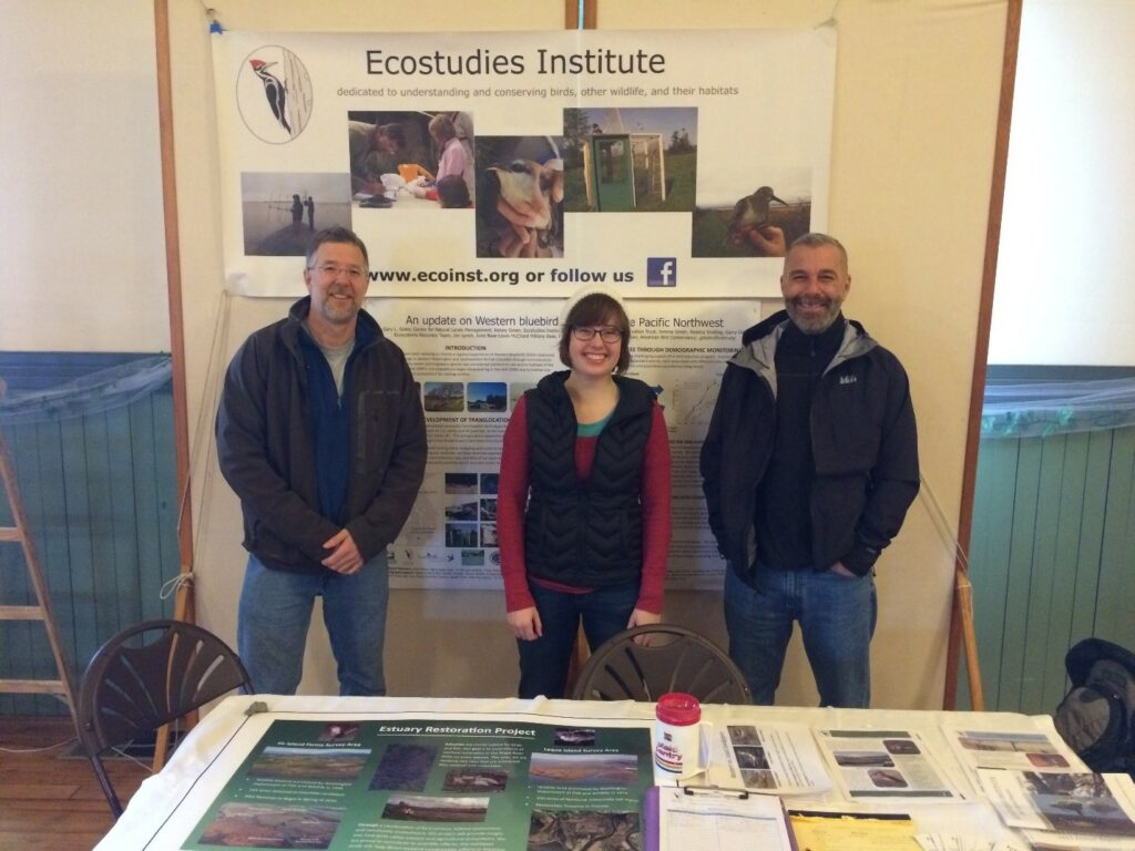 The faces of the Estuary Restoration Project team! From the left: Gary Slater, Leah Rensel and Tom Virzi.